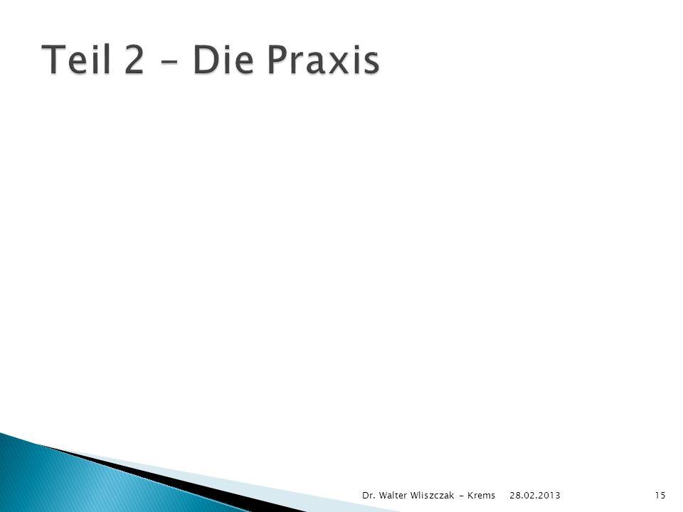 Teil 2 – Die Praxis Dr. Walter Wliszczak - Krems 28.02.2013