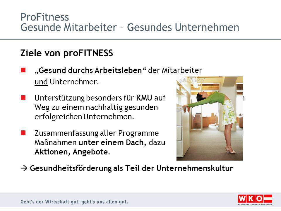 ProFitness Gesunde Mitarbeiter – Gesundes Unternehmen