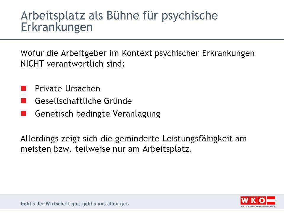 Arbeitsplatz als Bühne für psychische Erkrankungen