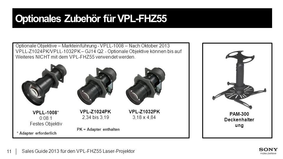 Optionales Zubehör für VPL-FHZ55