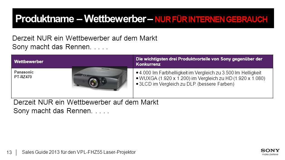 Produktname – Wettbewerber – NUR FÜR INTERNEN GEBRAUCH