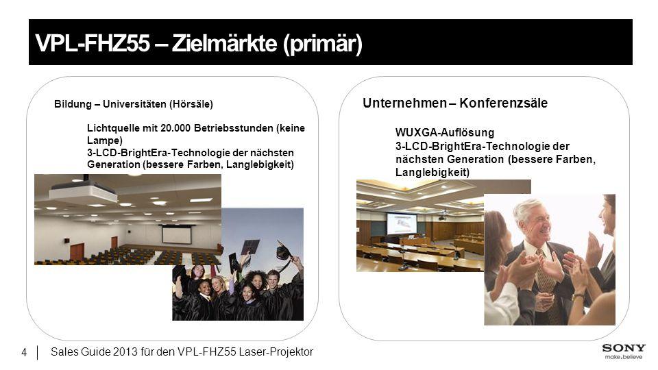 VPL-FHZ55 – Zielmärkte (primär)