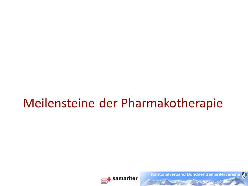 Meilensteine der Pharmakotherapie