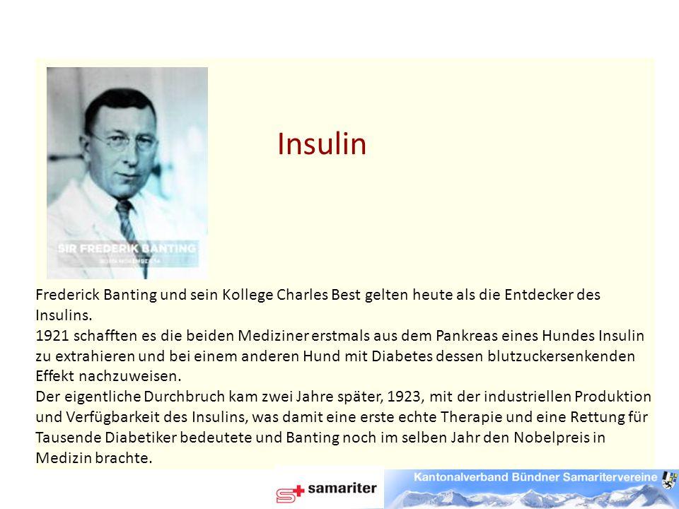 Frederick Banting und sein Kollege Charles Best gelten heute als die Entdecker des Insulins.