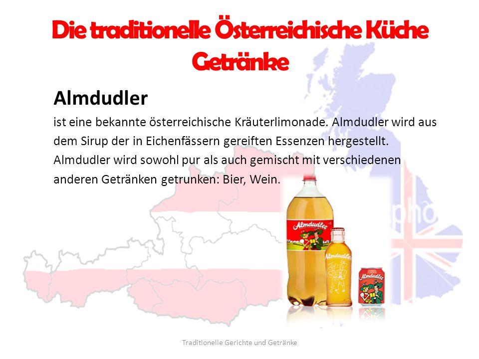 Die traditionelle Österreichische Küche Getränke