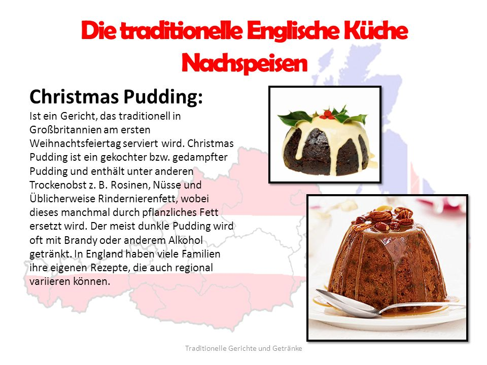 Die traditionelle Englische Küche Nachspeisen
