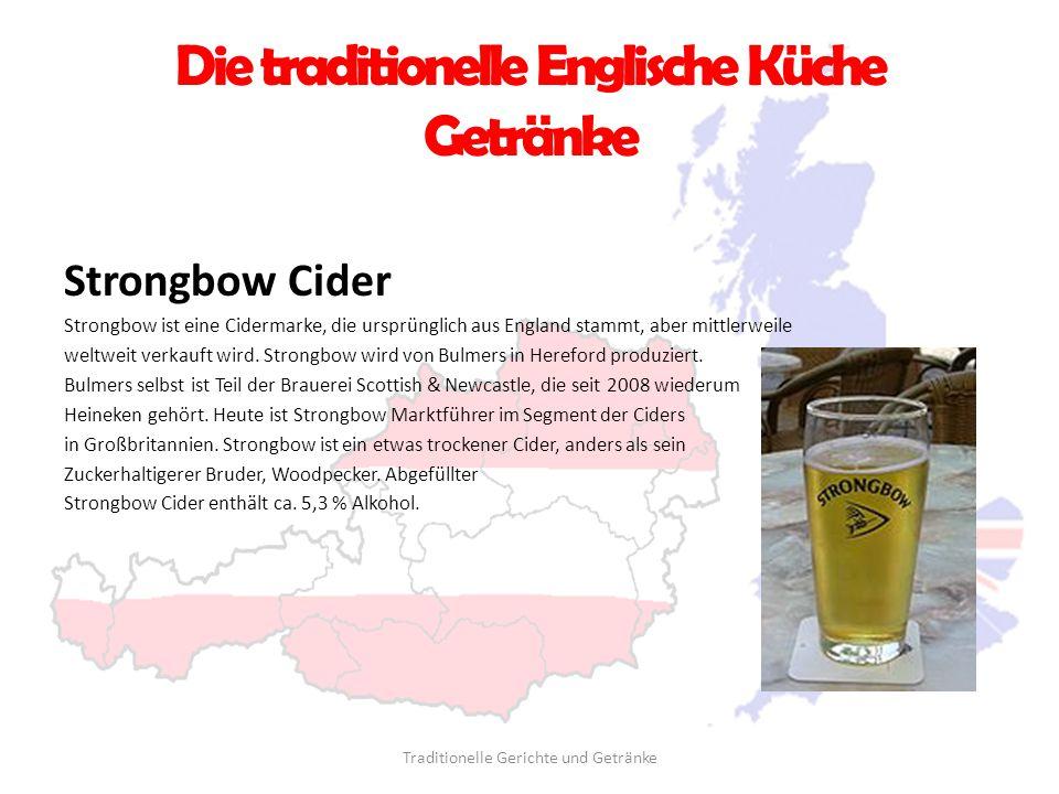 Die traditionelle Englische Küche Getränke