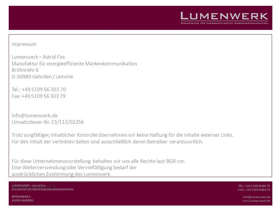 Lumenwerk – Astrid Fiss