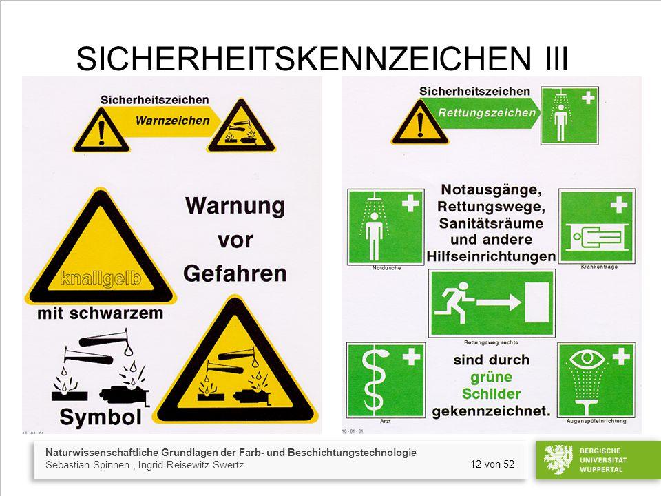Sicherheitskennzeichen III