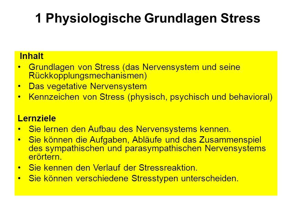 1 Physiologische Grundlagen Stress