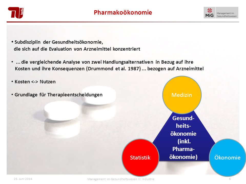 (inkl. Pharma-ökonomie)