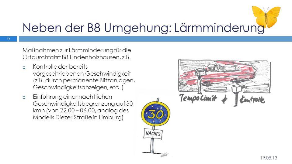 Neben der B8 Umgehung: Lärmminderung
