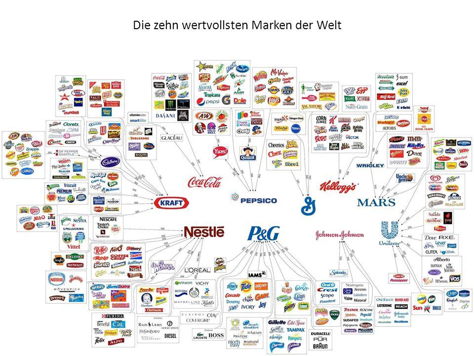 Die zehn wertvollsten Marken der Welt
