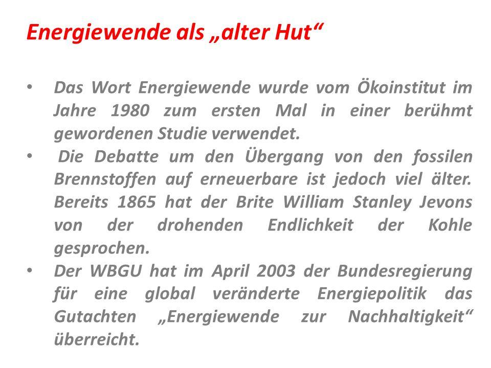 """Energiewende als """"alter Hut"""