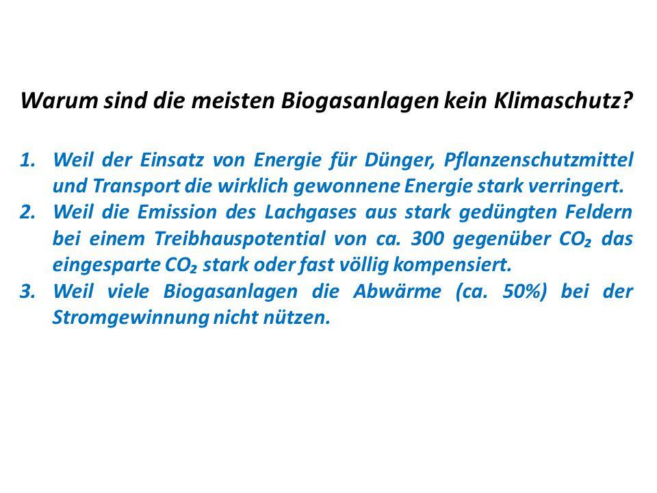 Warum sind die meisten Biogasanlagen kein Klimaschutz