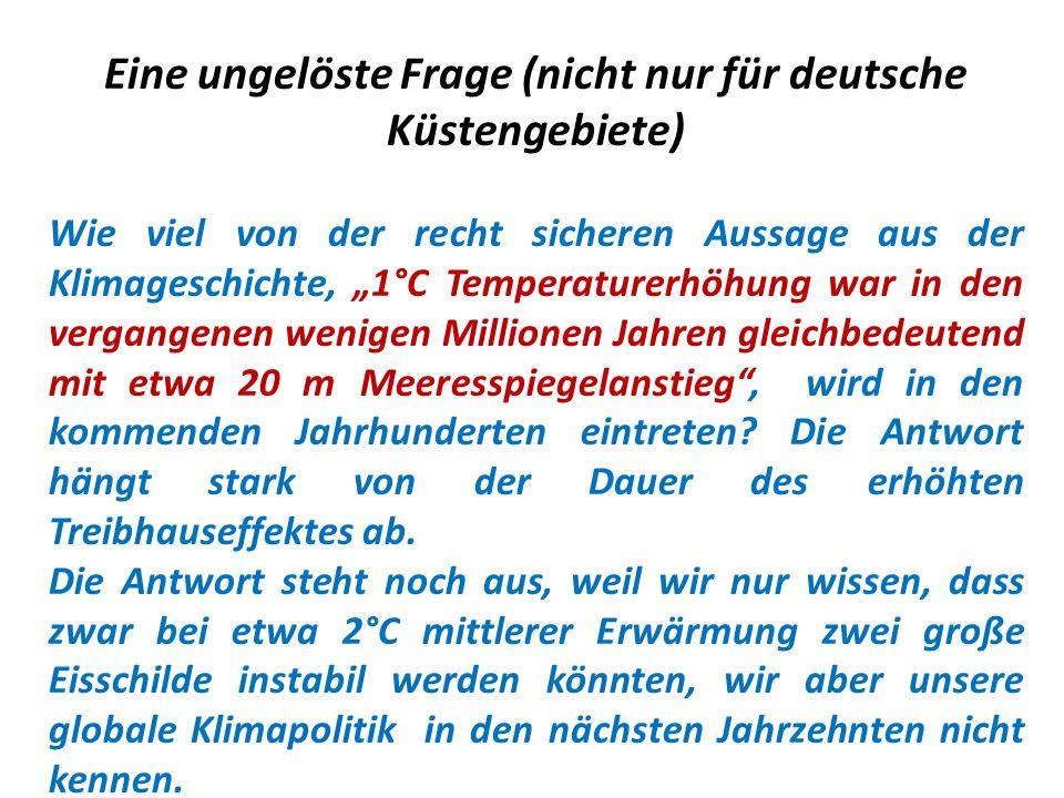 Eine ungelöste Frage (nicht nur für deutsche Küstengebiete)
