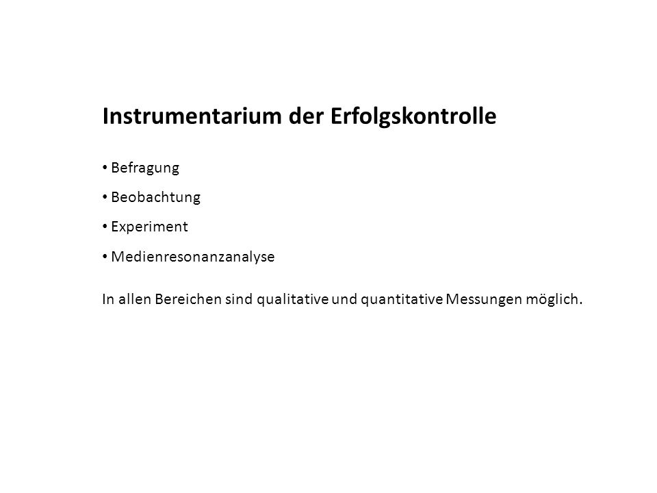Instrumentarium der Erfolgskontrolle