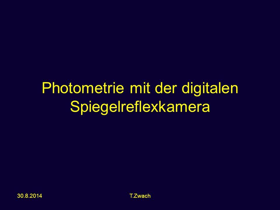Photometrie mit der digitalen Spiegelreflexkamera