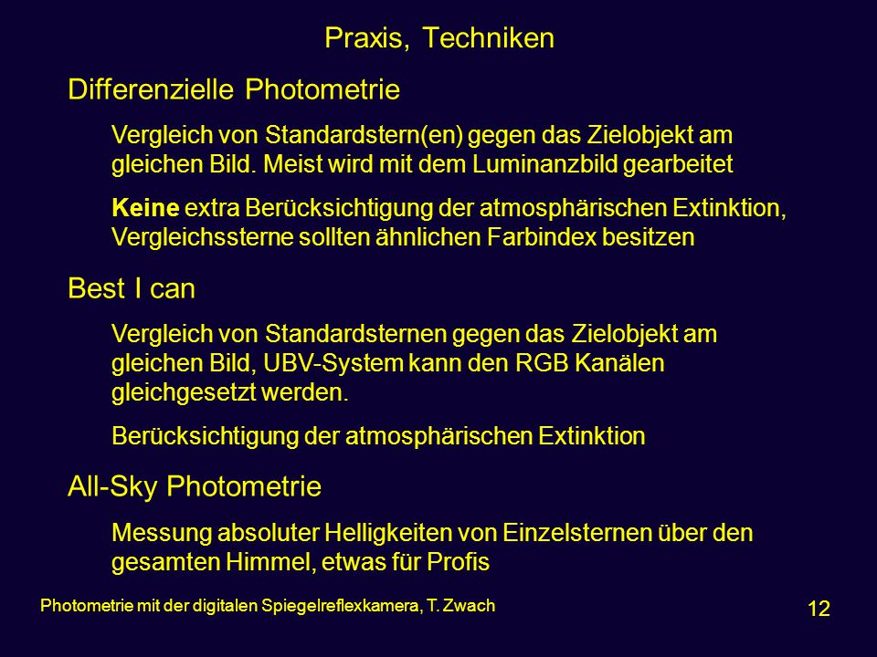 Differenzielle Photometrie