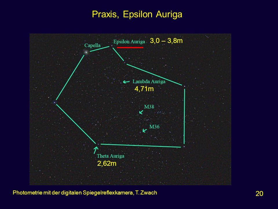 Praxis, Epsilon Auriga 3,0 – 3,8m 4,71m 2,62m 20