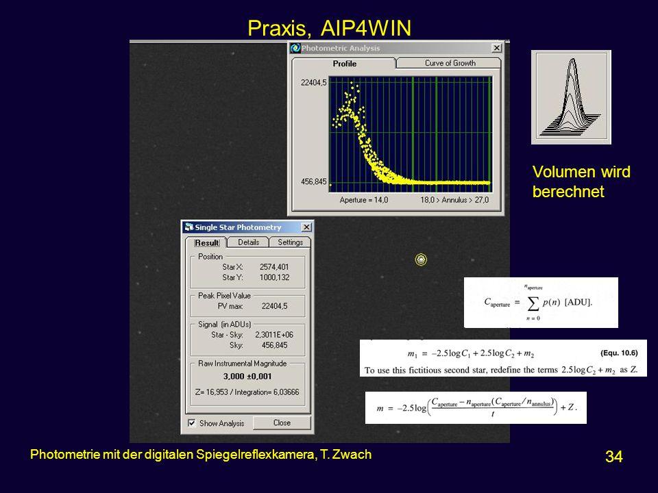 Praxis, AIP4WIN Volumen wird berechnet 34