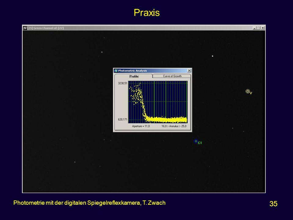 Praxis Photometrie mit der digitalen Spiegelreflexkamera, T. Zwach 35