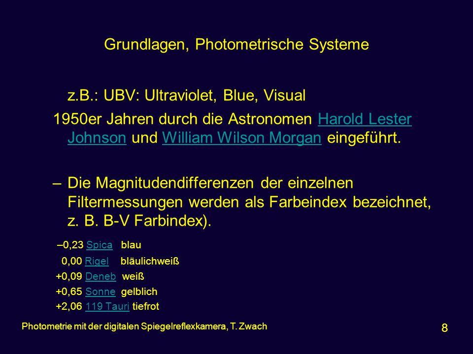 Grundlagen, Photometrische Systeme