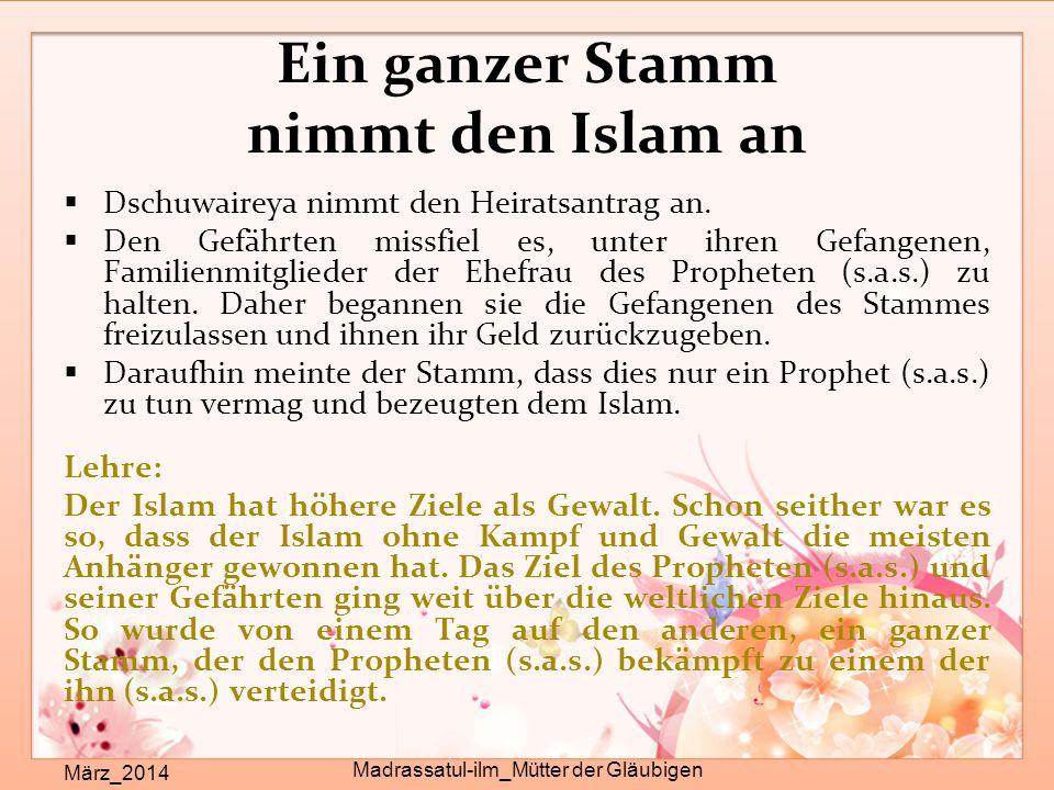 Ein ganzer Stamm nimmt den Islam an