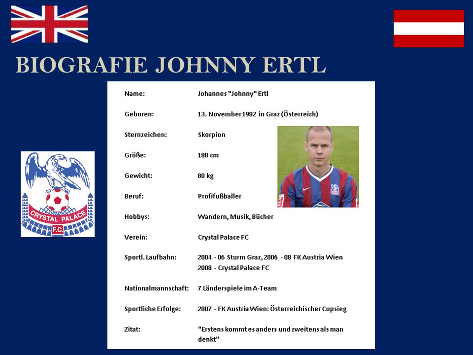 BIOGRAFIE JOHNNY ERTL
