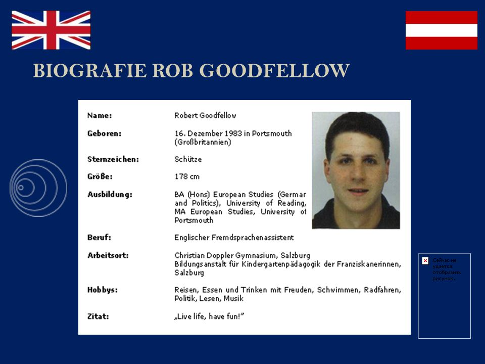 BIOGRAFIE ROB GOODFELLOW