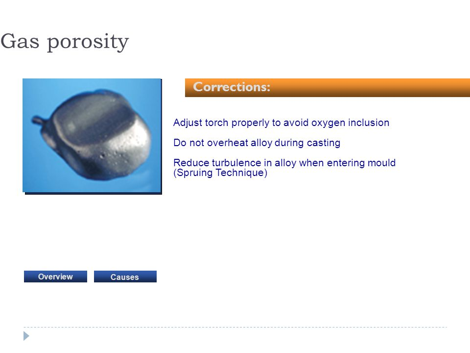 Gas porosity Corrections: