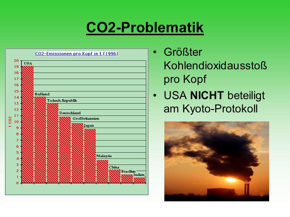 CO2-Problematik Größter Kohlendioxidausstoß pro Kopf