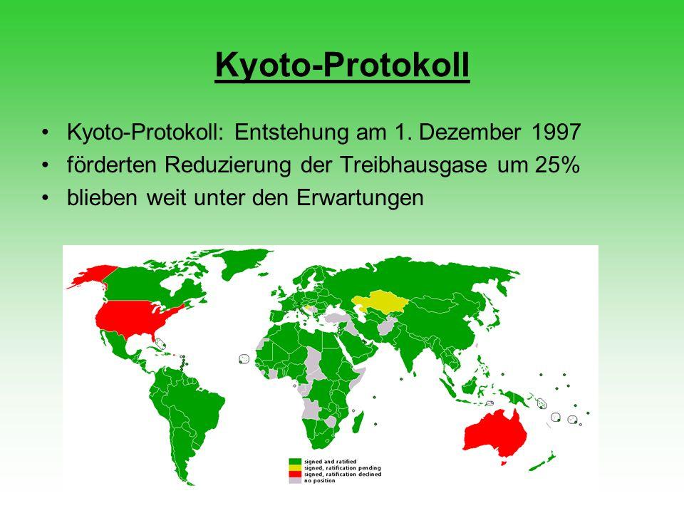 Kyoto-Protokoll Kyoto-Protokoll: Entstehung am 1. Dezember 1997