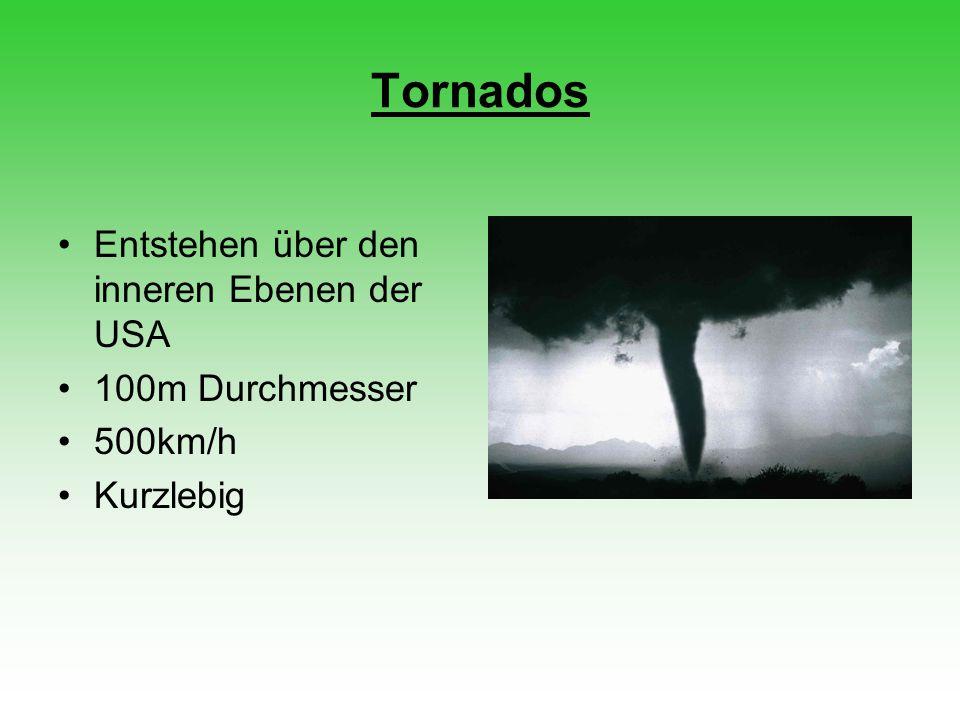 Tornados Entstehen über den inneren Ebenen der USA 100m Durchmesser
