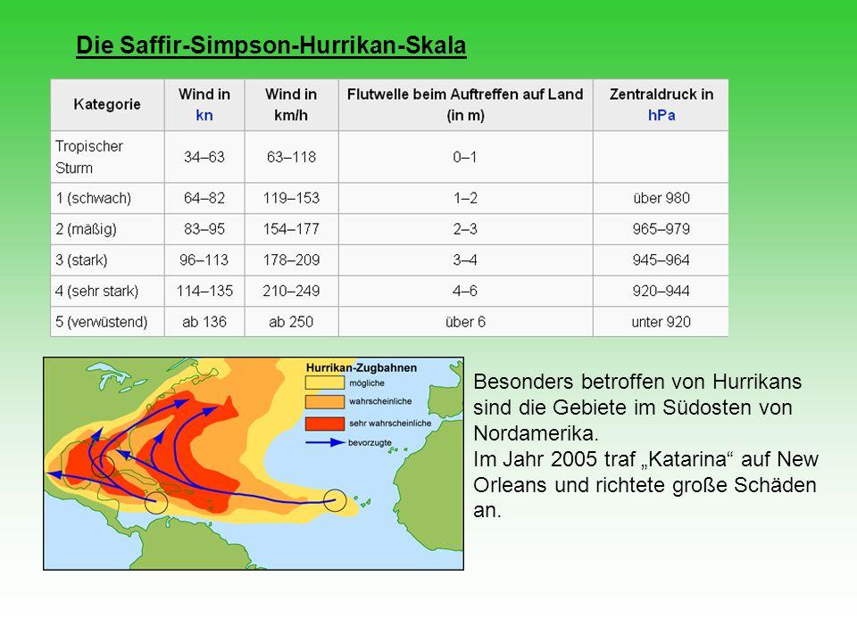 Die Saffir-Simpson-Hurrikan-Skala