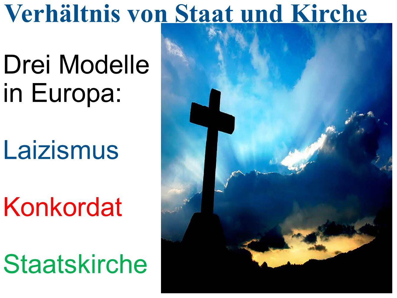 Verhältnis von Staat und Kirche