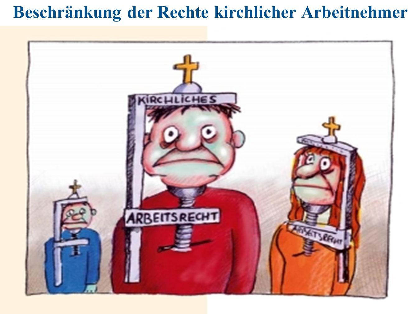Beschränkung der Rechte kirchlicher Arbeitnehmer