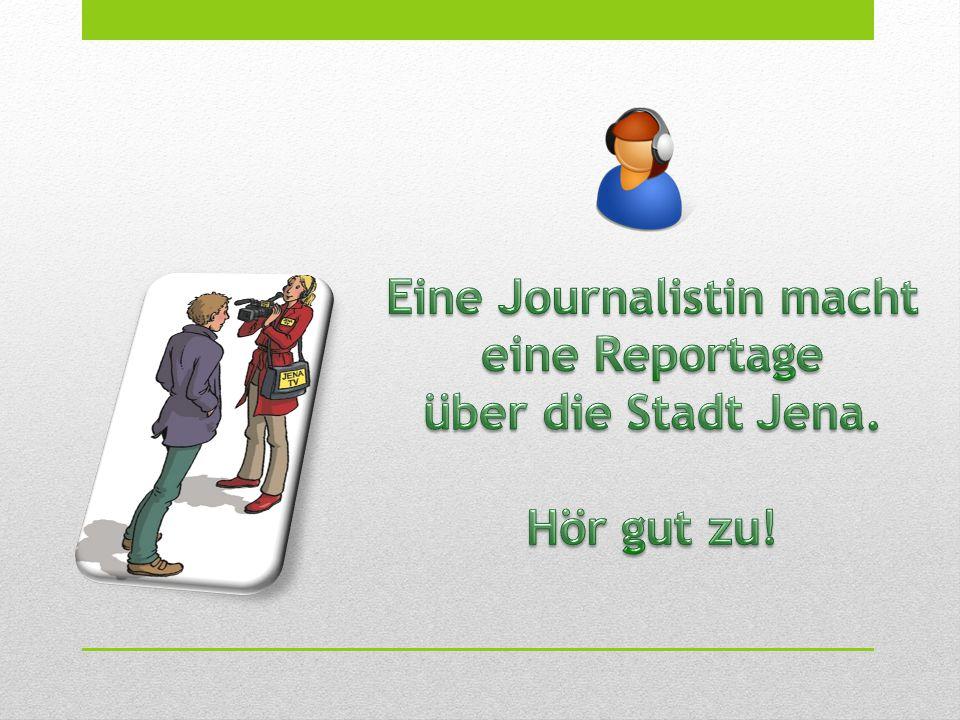 Eine Journalistin macht