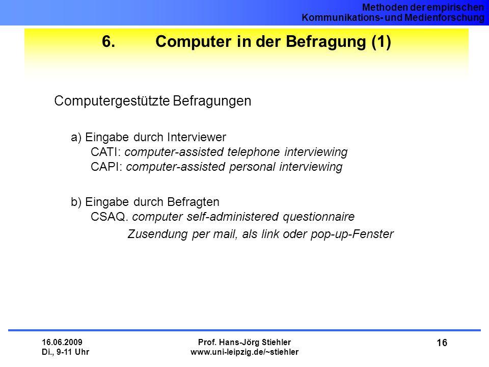 6. Computer in der Befragung (1)