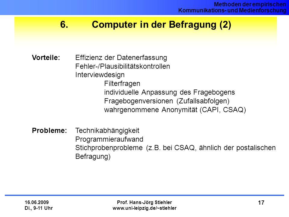 6. Computer in der Befragung (2)