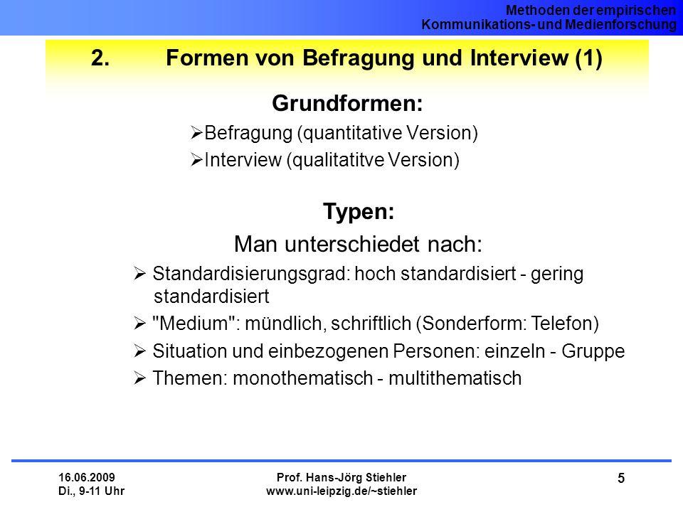 2. Formen von Befragung und Interview (1)