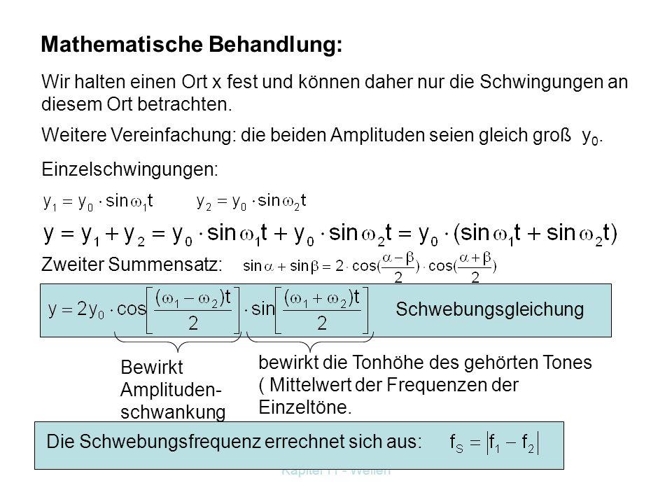 Mathematische Behandlung: