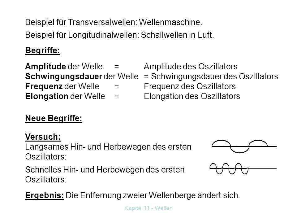 Beispiel für Transversalwellen: Wellenmaschine.