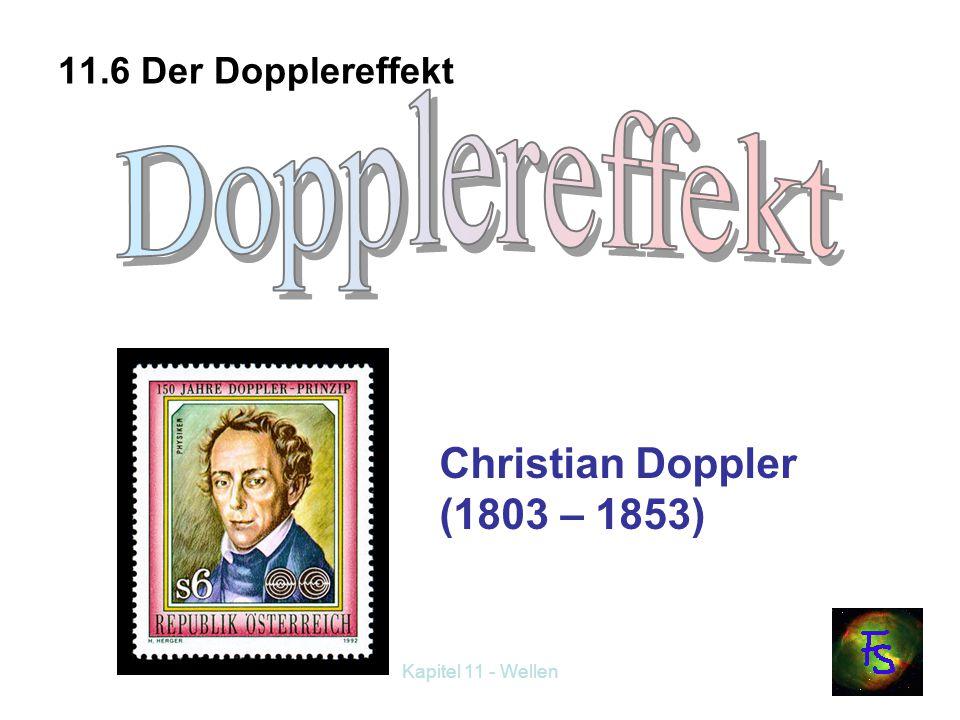 Dopplereffekt Christian Doppler (1803 – 1853) 11.6 Der Dopplereffekt