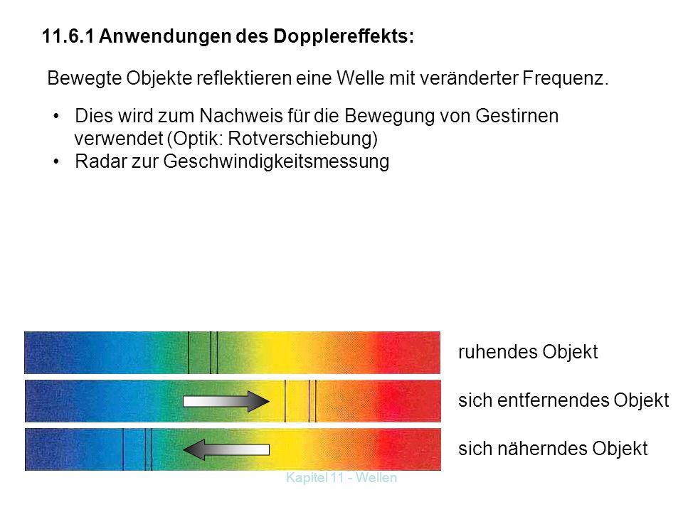 11.6.1 Anwendungen des Dopplereffekts: