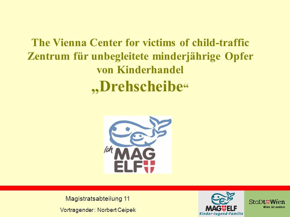 """The Vienna Center for victims of child-traffic Zentrum für unbegleitete minderjährige Opfer von Kinderhandel """"Drehscheibe"""