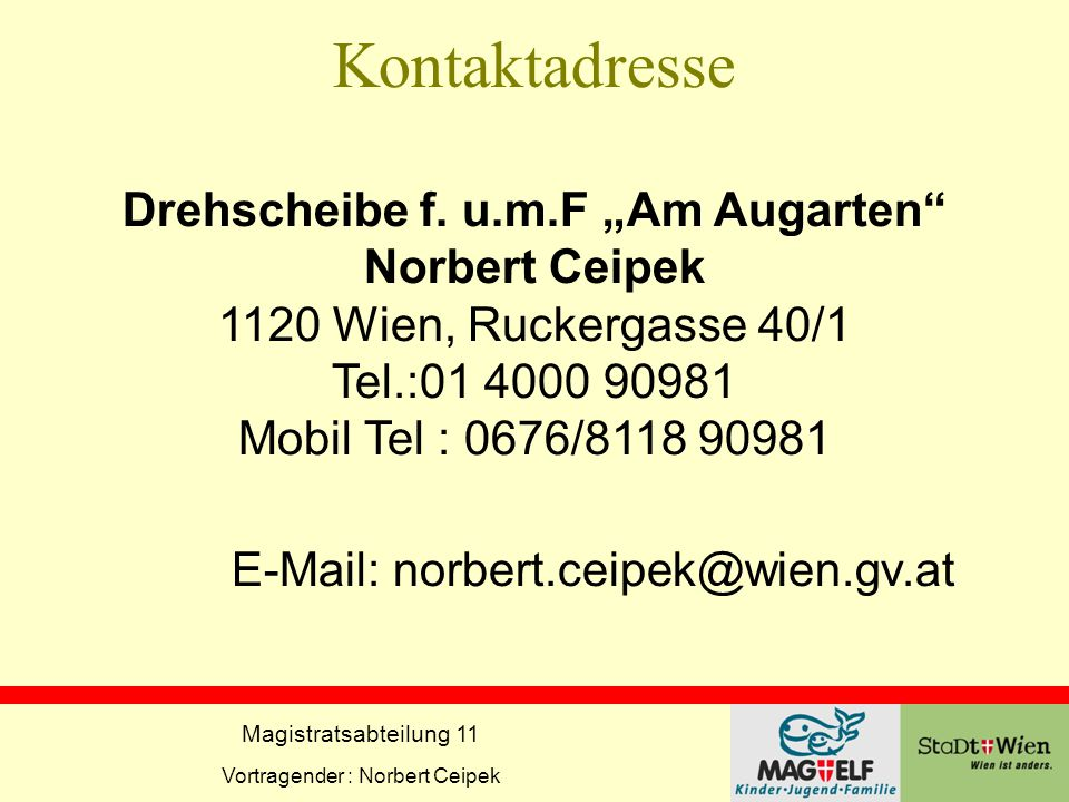 Kontaktadresse Drehscheibe f. u. m