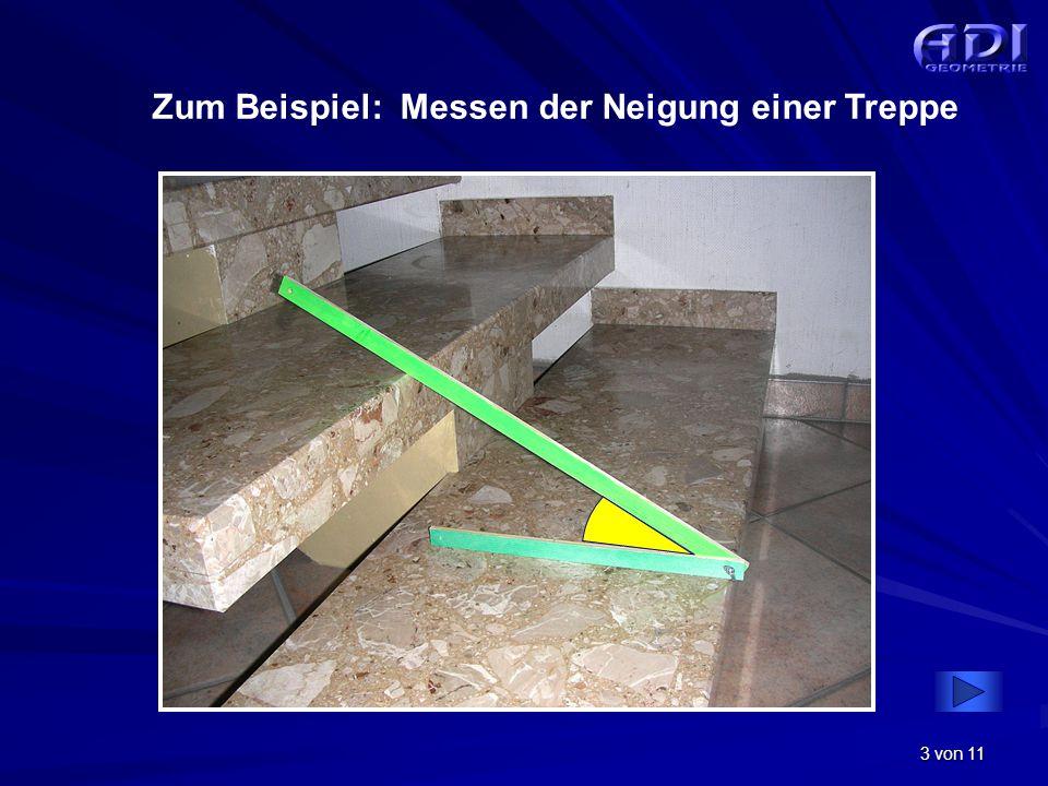 Zum Beispiel: Messen der Neigung einer Treppe