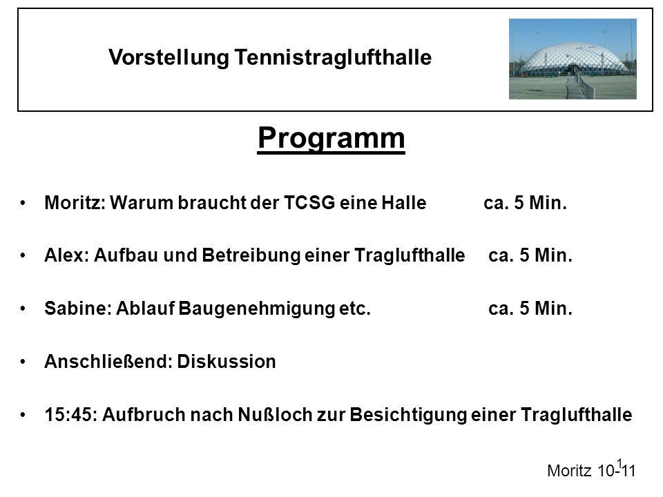 Programm Moritz: Warum braucht der TCSG eine Halle ca. 5 Min.