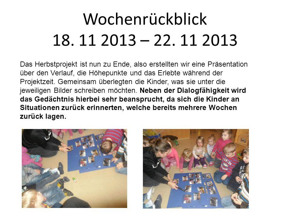 Wochenrückblick 18. 11 2013 – 22. 11 2013
